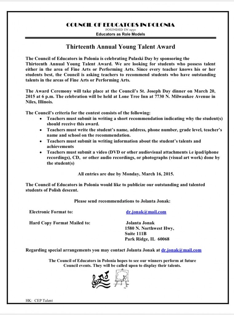 Thirteenth Annual Young Talent Award